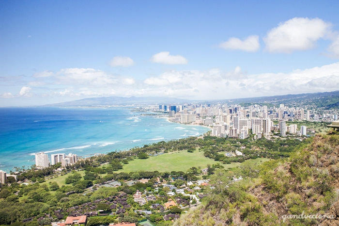 View from Diamond Head, Hawaii. | qandvictoria.wordpress.com